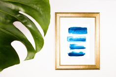 Indigo Blue Shibori Painting - Minimal Decor - Beach Art by melissamaryjenkins on Etsy