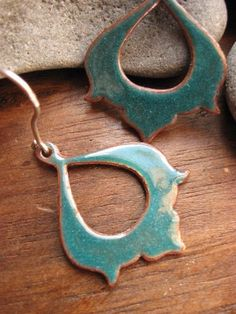 moroccan memoirs earrings  turquoise enamel by AThousandJoys, $54.00