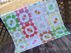 Sew Pretty Stiches: Briar Rose, Quilt Top