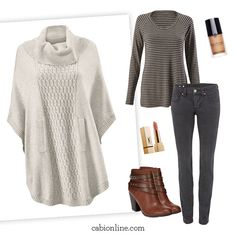 #cabi - Pair our oversized Cowl Poncho with skinny jeans for a contrasting silhouette that's sure to impress.
