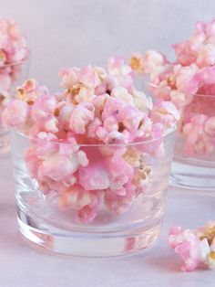 Old Fashioned Pink Popcorn. Baby Blue would also be cute for a shower!