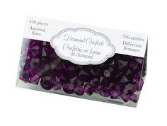 Purple Diamond Confetti from Belle Styles