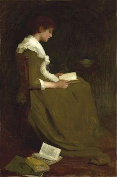 """""""Girl Reading"""" painting by Isabel Codrington"""