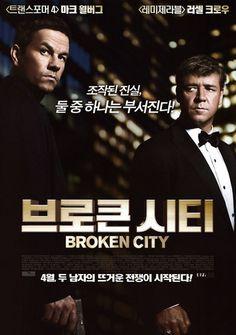 Broken City Movie Poster 2013 Mark Wahlberg, Russell Crowe, Catherine Zeta-Jones