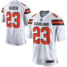 Men Cleveland Browns 23 Joe Haden White Elite Jersey