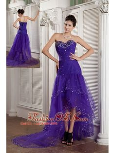 f49a0bb024f Buy purple mermaid sweetheart high low graduation dresses with beading from  graduation dresses shop