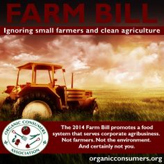 The House and Senate passed it. President Obama signed it. But the 2014 Farm Bill, by most accounts, gets a failing grade. Learn more: http://orgcns.org/1jl6PHX