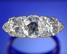 DIAMOND RING, LATE 19TH CENTURY,