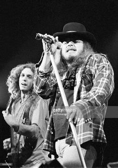 Photo of LYNYRD SKYNYRD and Ronnie VAN ZANT and Allen COLLINS Allen Collins and…