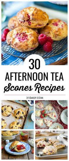 The essence of any afternoon tea party is the oh-so-delicious scones course. If you're looking for scone recipes, we have 30 savory and sweet scone recipes that are incredibly tasty! Perfect Afternoon Tea Scones Recipes that are Sweet and Savory Afternoon Tea Scones, Afternoon Tea Parties, Baking Recipes, Dessert Recipes, Scone Recipes, Tea Party Recipes, Tea Party Desserts, Tea Party Snacks, Food For Tea Party