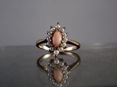 Vintage Jewelry Angel Skin Coral and Seed by DanPickedMinerals