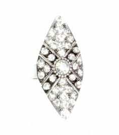 Pierścionek Vintage z Kryształkami #ring #vintage #pierscionek