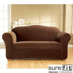 Stretch Corduroy 3-piece Sofa Slipcover | Overstock.com Shopping - Big Discounts on Sure Fit Sofa Slipcovers
