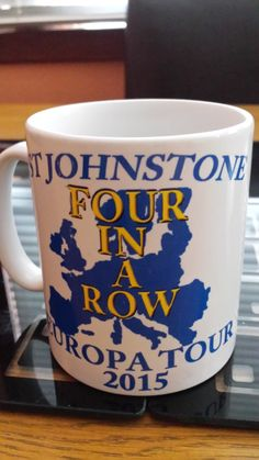 ST JOHNSTONE EUROPA tour 2015 T-shirts and Mugs by PerthGiftHouse on Etsy