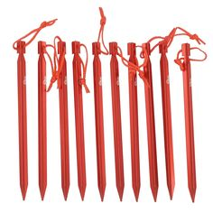 Kalili 9 inch Lengthen Aluminum Alloy Y shaped Tent Stakes Tent Pegs for C&ing Hiking 10  sc 1 st  Pinterest & Set of 6 Heavy Duty Tent Pegs äóñ 10.5u0027 Metal Forged Steel Tent ...