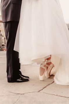 I really want to get married in pointe shoes. I guess the first step is to get pointe shoes.