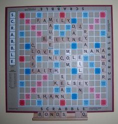 Scrabble Game family names <3