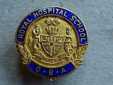 VINTAGE ENAMEL BADGE ROYAL HOSPITAL SCHOOL O.B.A. IPSWICH SUFFOLK BY GAUNT in Collectables, Badges/ Patches, Club/ Association Badges, School/ University   eBay