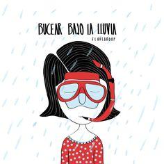 #lluvia #rain #buceo #illustration