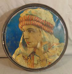 Antique Rudolph Valentino Lithographed Tin Box Canco Beautebox Orientalist | eBay