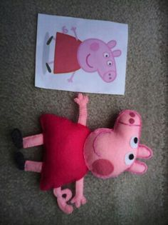 I made munky a peppa pig <3