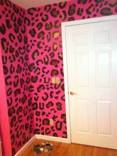 This as the accent wall to a lighter pink room. Awesome for teens...wow i want this now!