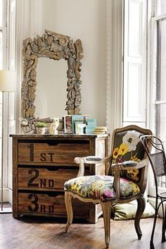 this small dresser might work in the nook for storage