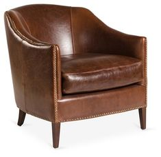 Madison Leather Club Chair, Saddle   One Kings Lane