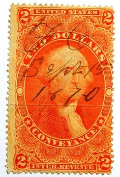 1862-71 $2 U.S. Revenue Stamp Conveyance Scott R81c Used