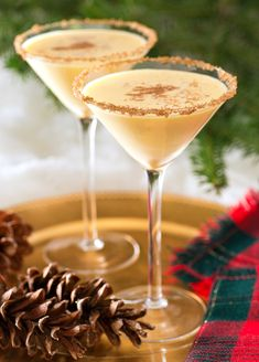 Top 10 Christmas Cocktails. We can't wait to try an Eggnog Martini this holiday season.