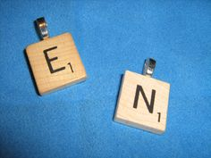 Scrable Tile Initial Pendant by BulletsAntlersEtc on Etsy, $10.00