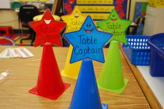 Classroom Management - have table captain for each table, practice responsibility skills!