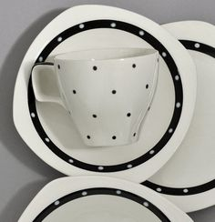 """'Black Domino"""" by Jessie Tait for Midwinter Pottery by robmcrorie, via Flickr"""