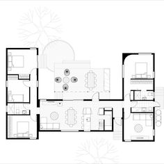 Give life a hug with this happy home that balances true comfort & well-being. A 4 bed, 2 bath home is perfect for families looking to connect with the outdoors & each other, while still retaining privacy. Click to find out more about the 'Hygge House' smart design. #farmhouse #beachhouse #modernhomedesign #housedesign #houseplans #floorplans #prefabhomes #modulararchitecture #architecture #modularhomes #prefabricated #functionality #clever #smart #living #multigenerational Modern Small House Design, Cool House Designs, Small House Plans, House Floor Plans, Hygge House, Architectural Floor Plans, Mountain House Plans, Container House Plans, Solar House