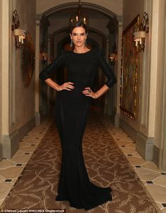 Former VS model: Alessandra Ambrosio, 36, attended the Learning Lab Ventures Winter Gala in Beverly Hills on Thursday night