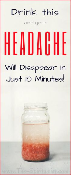 Drink This and Your Headache Will Disappear in Just 10 Minutes! Natural Health Remedies, Natural Cures, Natural Healing, Herbal Remedies, Natural Life, Natural Treatments, Natural Remedies For Headaches, Natural Things, Herbal Cure