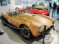 This original 427 Cobra SC (CSX 3047), owned by SAAC member Anthony Boosalisi, was one of just two golden-hued 427 Cobras that Shelby American built.