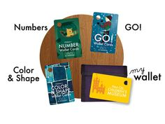 Childrens Wallet Cards: Color & Shape, Numbers, GO, Wallet