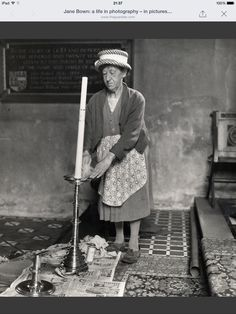 Photo of cleaner from Ashbrittle, Somerset by Jane Bown