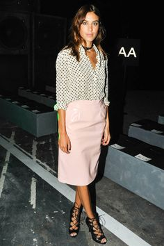 Alexa Chung at Marc by Marc Jacobs and others shine in the front rows of #NYFW, see others here:
