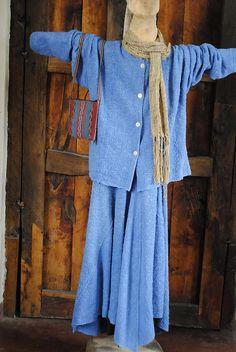 hand woven indigo dyed by deljardin, via Flickr grace lovelace