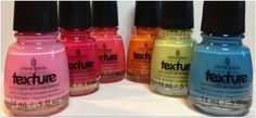 China Glaze Texture Collection - Unrefined. Bump & Grind. Itty, Bitty, & Gritty. Toe-Tally Textured. In the Rough. Of Course!.USED for 1 mani $20 SHIPPED