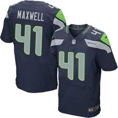 "$23.88 at ""MaryJersey""(maryjerseyelway@gmail.com) Nike Seahawks #41 Byron Maxwell Steel Blue Team Color Men's Stitched NFL Elite Jersey"