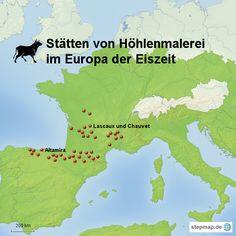 Orte für Höhlenmalerei in Europa                                                                                                                                                     Mehr