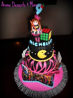 1000 images about cakes 80 39 s on pinterest 80s theme for 80s cake decoration ideas
