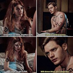 """#Shadowhunters 2x17 """"A Dark Reflection"""" - Clary and Jace"""