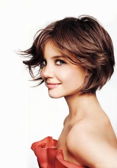 Katie Holmes shorter bob: if I cut my hair short again
