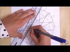 How to draw an Islamic geometric pattern: Ayyubid Star. Geometric Tools, Geometric Shapes Art, Geometric Pattern Design, Geometric Designs, Calligraphy Lessons, Islamic Art Calligraphy, Pattern Drawing, Pattern Art, Corel Draw Tutorial