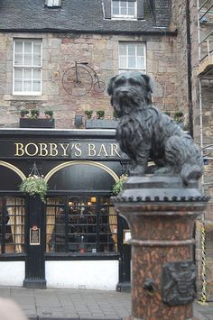 Greyfriars Bobby was a Skye Terrier who became known in Edinburgh for supposedly spending 14 years guarding the grave of his owner until he died himself on 14 January Edinburgh Castle, Edinburgh Scotland, Scotland Travel, England Ireland, England And Scotland, Great Places, Places To See, Destinations, British Isles