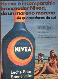 Leche Solar NIVEA #años70 #nivea #retro